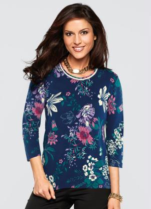 Blusa Floral (Floral Azul)
