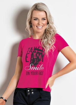 840afce600 Blusa Básica Pink - SouLojista