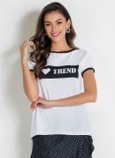 Blusa Branca com Contraste
