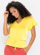 Blusa com Amarração Amarela