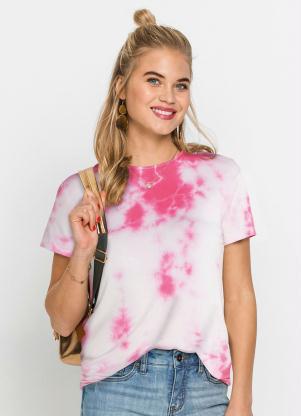 Blusa com Amarração nas Costas (Tie Dye Rosa)