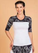 Blusa Fitness Branca Moda Evangélica