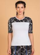Blusa Fitness Moda Evangélica Branca