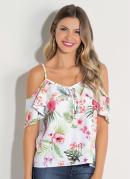 Blusa Floral Ciganinha Quintess