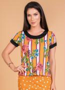 Blusa Floral Moda Evangélica