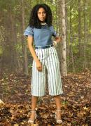 Blusa Jeans Color com Mangas Duplas e Abertura