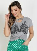 Blusa Mescla com Estampa Frontal Moda Evangélica