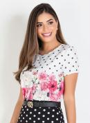 Blusa Moda Evangélica Com Estampa Barrada