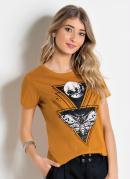 Blusa Mostarda com Estampa Frontal