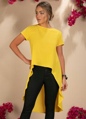 Blusa Mullet Alongada (Amarela)