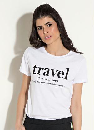 0ea461bf0c Blusa Quintess Branca com Estampa Frontal - Quintess