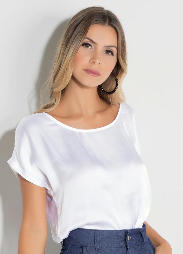 Blusa Quintess (Branca) com Tira nas Costas