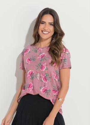 Blusa Quintess (Floral) com Vazado Costas