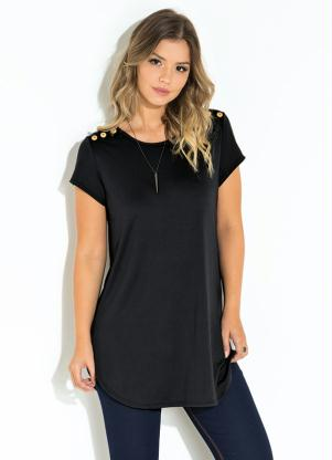 Blusa Quintess (Preto) Recorte Central nas Costas