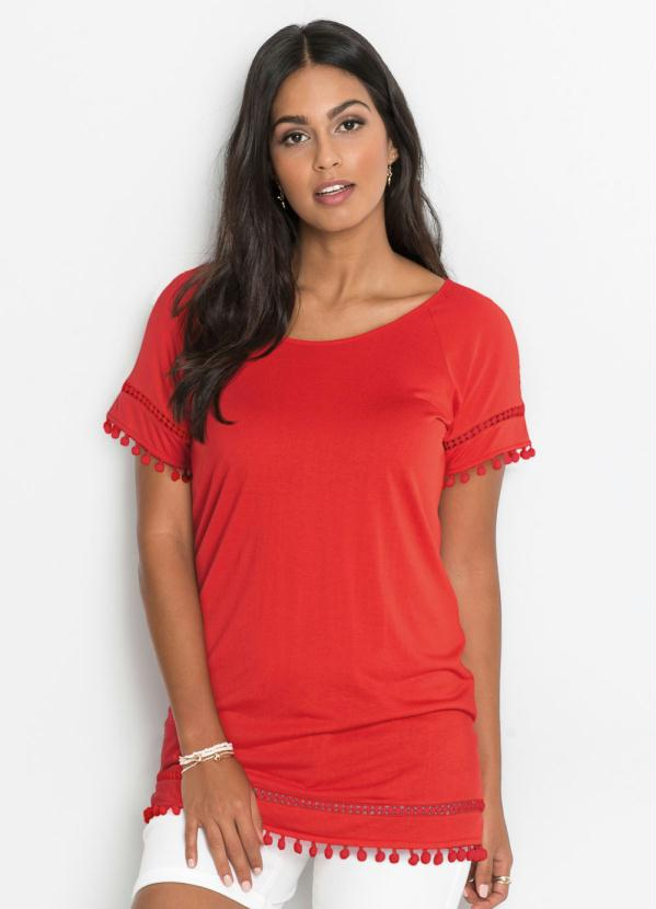 Blusa Raglan com Renda (Vermelha)
