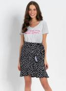 Blusa T-Shirt com Barra Mullet Mescla