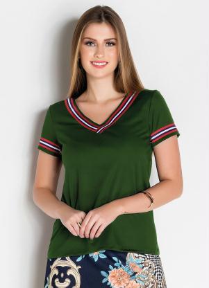 Blusa (Verde) com Faixa Moda Evangélica