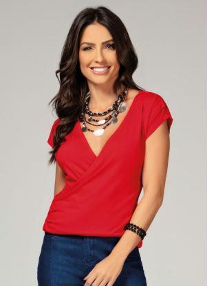 Blusa (Vermelha) com Transpasse