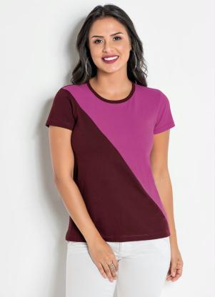 T-Shirt (Bicolor) com Recorte Frontal