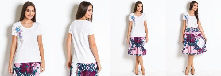 39d68a326 Score  0.0 T-Shirt Branca com Estampa Moda Evangélica
