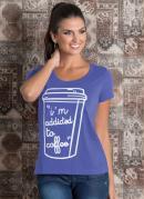T-Shirt Lilás com Estampa Localizada