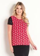 T-Shirt Moda Evangélica Vermelha com Cirrê