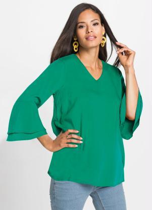 Blusa de Viscose com Babados (Verde)