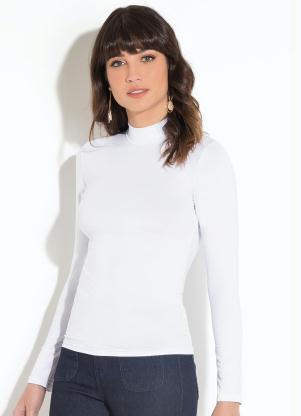 a6208d4688d Blusa Gola Alta Mangas Longas Branca Quintess - Quintess