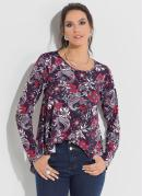 Blusa Mullet Soltinha Floral Dark Quintess