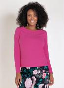 Blusa Pink com Strass e Mangas Longas