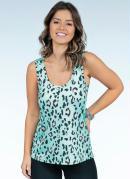 Blusa Onça Verde com Fenda nas Costas