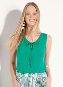 Blusa Quintess Verde com Cordel