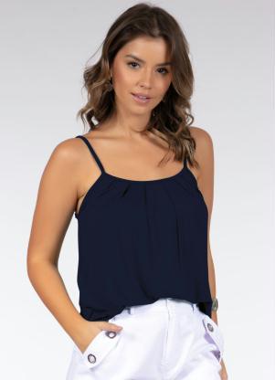 Blusa de Alça (Azul Marinho)