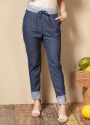 Calça Azul Comfort com Bolsos