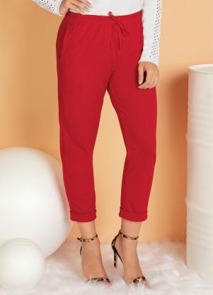 Calça Cropped (Vermelha) com Bolso Funcional