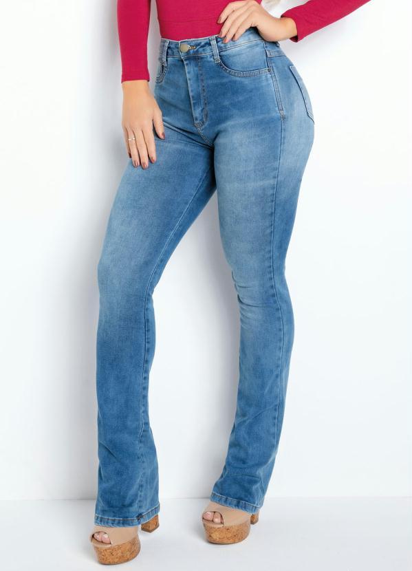 Calça Flare (Jeans Clara) Super Lipo Sawary