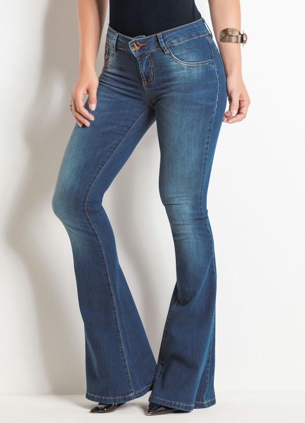 Calça Flare Sawary (Jeans) com Cintura Média