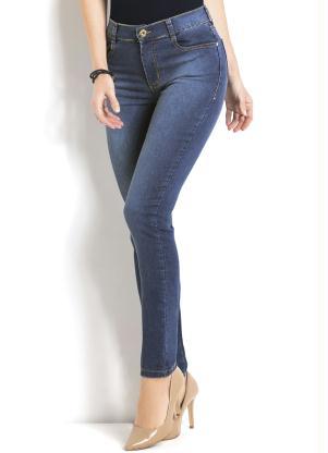 Calça Jeans Sawary Modelo Cigarrete (Azul)