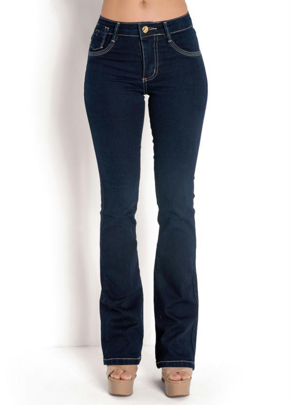 Calça Flare Escura Sawary (Jeans)