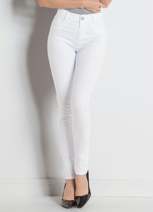 Calça Hot Pant (Branca) Sawary com Cintura Alta