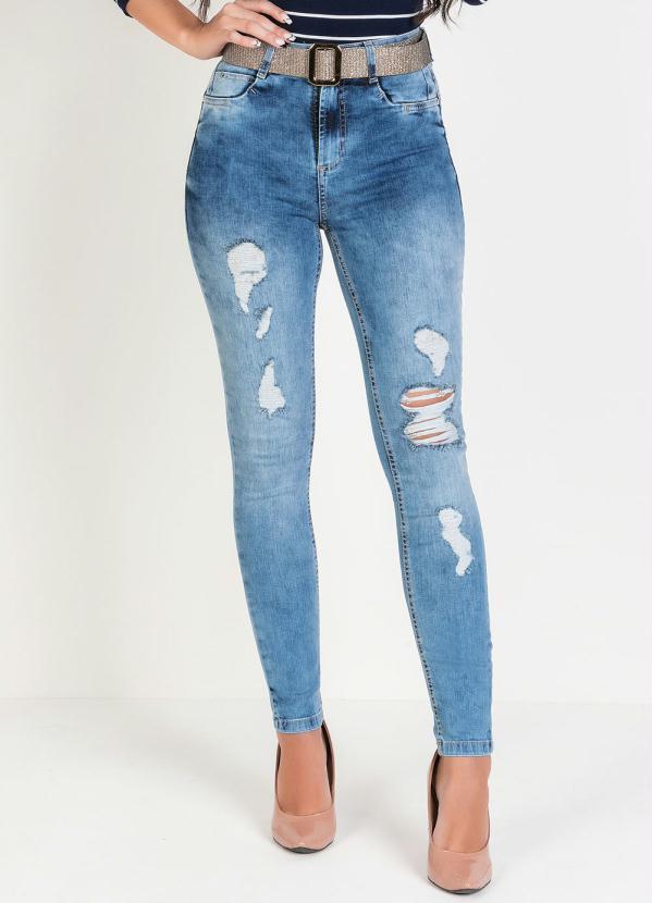 Calça Hot Pants (Jeans) Sawary com Cinto Grátis