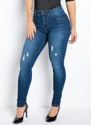 Calça Hot Pants (Jeans) Sawary com Puídos