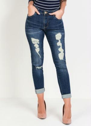 Calça (Jeans) Boyfriend Destroyed Sawary