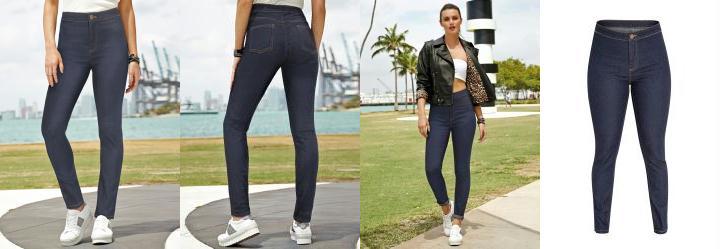 a0c85ece8 Score: 0.0 Calça Jeans Cintura Alta Azul Escuro