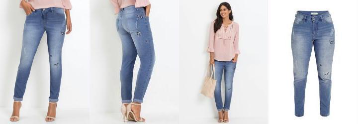915b48380 Score  0.0 Calça Jeans com Bordados Azul Médio