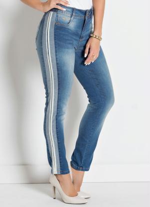 Calça (Jeans) com Listra Lateral Sawary