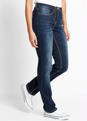 Calça Jeans Corte Reto (Azul)