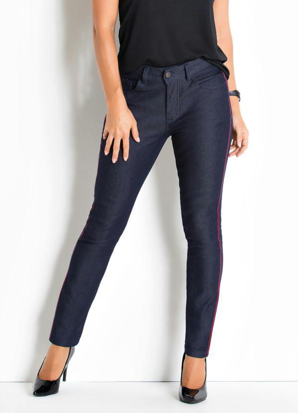 Calça Jeans Janine (Azul) com Tira Lateral
