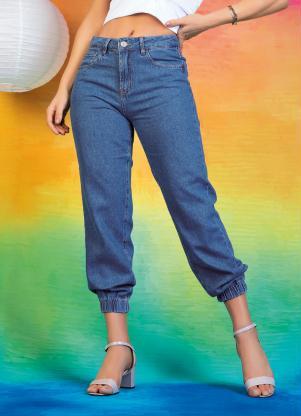 Calça (Jeans) Jogger Sawary com Bolsos Funcionais