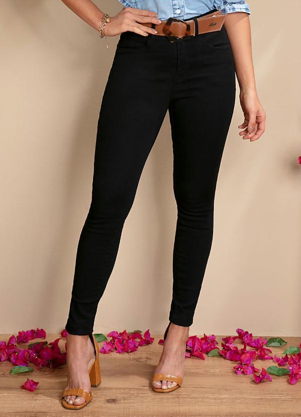 Calça Jeans (Preta) Skinny